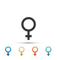 female gender symbol icon isolated venus symbol vector image vector image