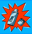 flash drive comic book style vector image vector image