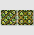 fruit seamless patterns vector image