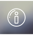 Gps eye thin line icon vector image vector image