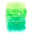 green abstract hand drawn watercolor vector image vector image