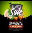 halloween sale banner with tombstone vector image vector image