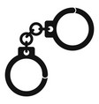 handcuffs icon simple style vector image vector image