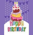 happy birthday invitation card vector image vector image