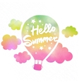 Hello summer air balloon vector image vector image