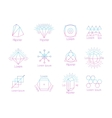 Hipster logos with geometric shapes vector image vector image