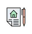 home purchase contract sale real estate lease vector image