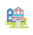 house flat vector image