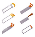 household saws set household saws in a style vector image vector image