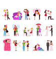 hugging couple in love llifestyle happy vector image vector image