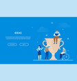 ideas - flat design style colorful web banner vector image vector image