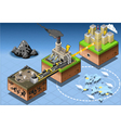 Isometric Infographic Carbon Energy Harvesting vector image