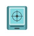 JPS navigator icon flat style vector image vector image