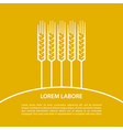 linear ears of wheat vector image