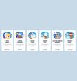 mobile app onboarding screens take away coffee vector image vector image