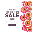 mothers day greeting card with blossom flowers vector image vector image