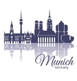 Munich skyline detailed silhouette Trendy vector image vector image