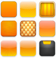 Orange app icons vector image vector image