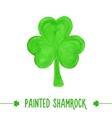 Painted shamrock vector image
