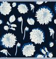 pattern vintage colors line dahlia flowers vector image