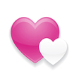 Pink and White Heart Valentines Day vector image vector image