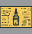 poster all you need is beer vector image vector image