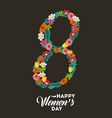 poster international happy womens day 8 march vector image vector image
