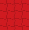 Red checkered wavy squares vector image vector image