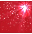 Red color design with a burst and rays vector image vector image
