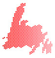 red dotted newfoundland island map vector image vector image