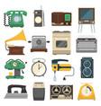 retro vintage household appliances set vector image vector image