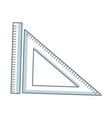ruler and triangle measuring element vector image vector image