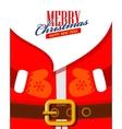 Santa claus close up vector image vector image