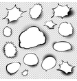 Set of comic style speech bubbles EPS 10 vector image vector image