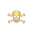 Skull computer symbol vector image vector image