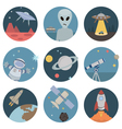 Space flat icons vector image vector image
