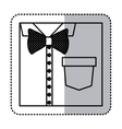 sticker monochrome contour close up formal shirt vector image vector image