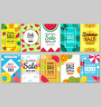 summer banners tropical colored vacation pictures vector image