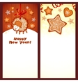 Sweet gingerbread Christmas banners vector image vector image