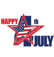 symbol july 4 independence day vector image vector image