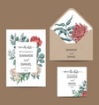template card for wedding invitation vector image vector image