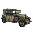 the vintage military convertible vector image vector image
