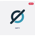 two color empty icon from user interface concept vector image vector image