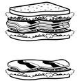 Two sandwiches icons vector image vector image