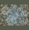 winter card with new years greetings vector image