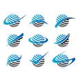 Swoosh Sphere Logo Icons vector image