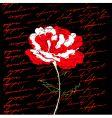 red flower on black background vector image