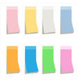 multicolor sticky paper note on white background vector image
