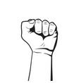 raised fist rebel concept protest symbol vector image