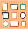 frames for family photography or camera pictures vector image